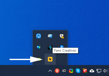 Func App image of the tray icon